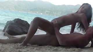 Wild sex on the beach
