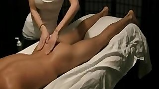 Indian babe giving full body massage to young boy happy ending